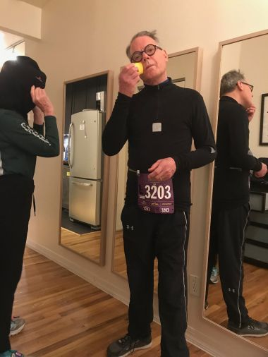 Getting ready for the frigid run