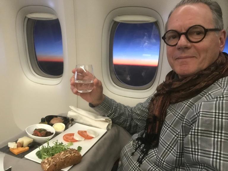 Jim on plane